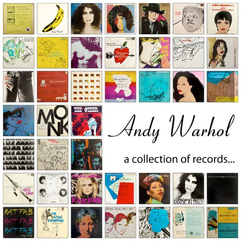 Andy Warhol A collection of records...